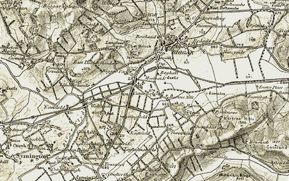 Old map of Langlees Ho in 1904-1905