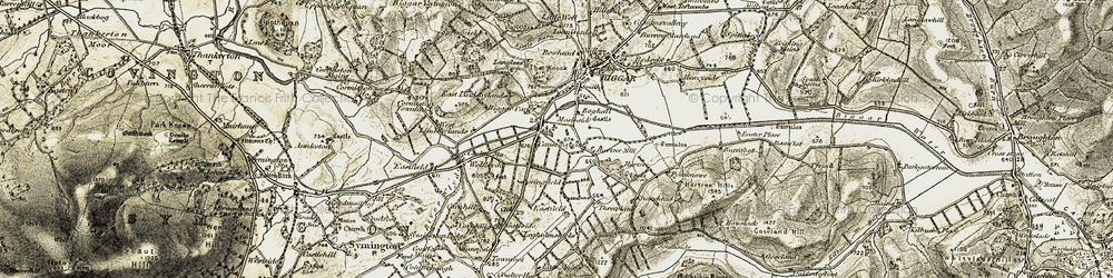 Old map of Wolfclyde in 1904-1905