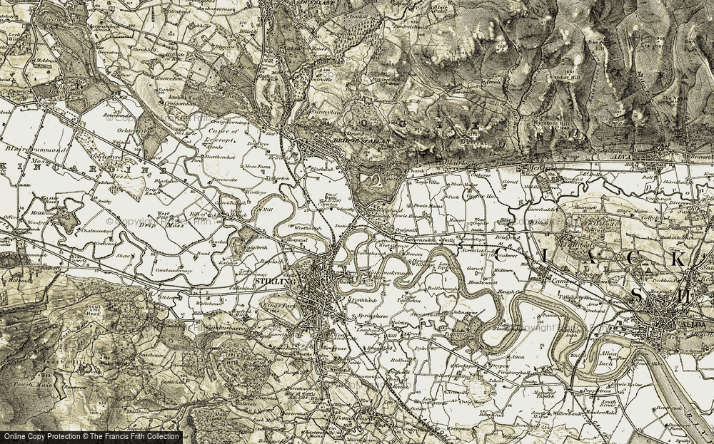 Old Map of Causewayhead, 1904-1907 in 1904-1907