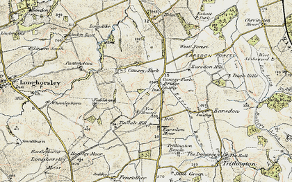 Old map of Tindale Hill in 1901-1903