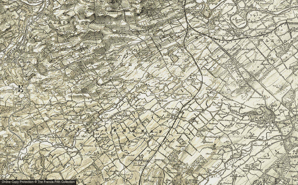 Old Map of Historic Map covering Linthill in 1901-1904