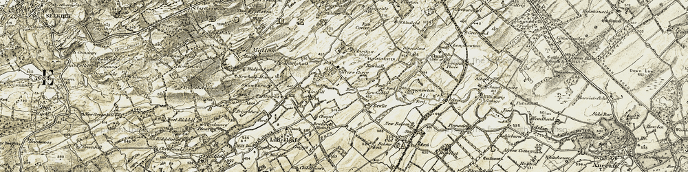 Old map of Cavers Carre in 1901-1904