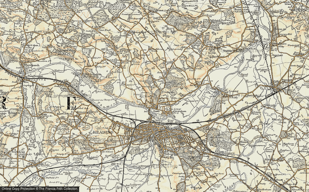 Old Map of Caversham, 1897-1909 in 1897-1909