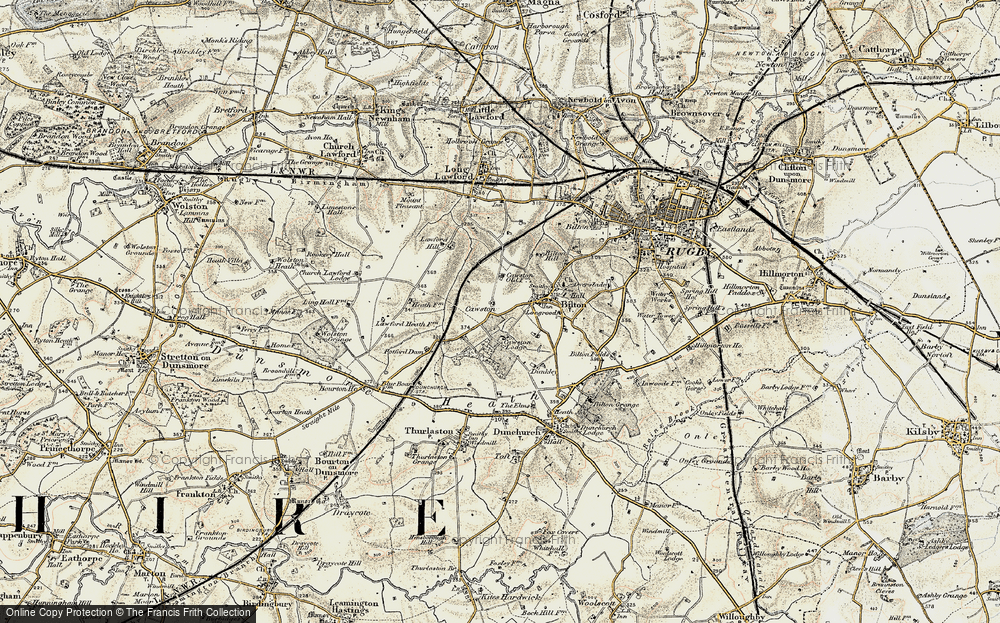 Old Map of Cawston, 1901-1902 in 1901-1902
