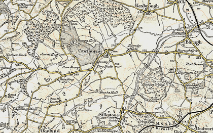 Old map of Cawthorne in 1903