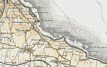 Old map of Cayton Bay in 1903-1904