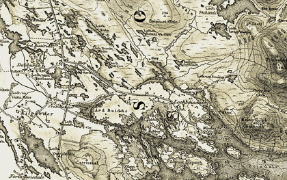 Old map of Àird Buidhe in 1911