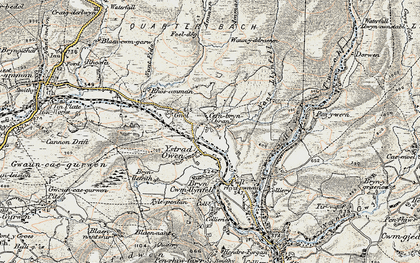 Old map of Aman Fawr in 1900-1901