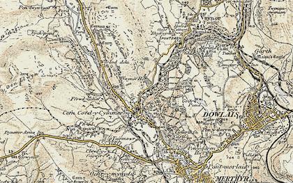 Old map of Wyrlod-ddu in 1900