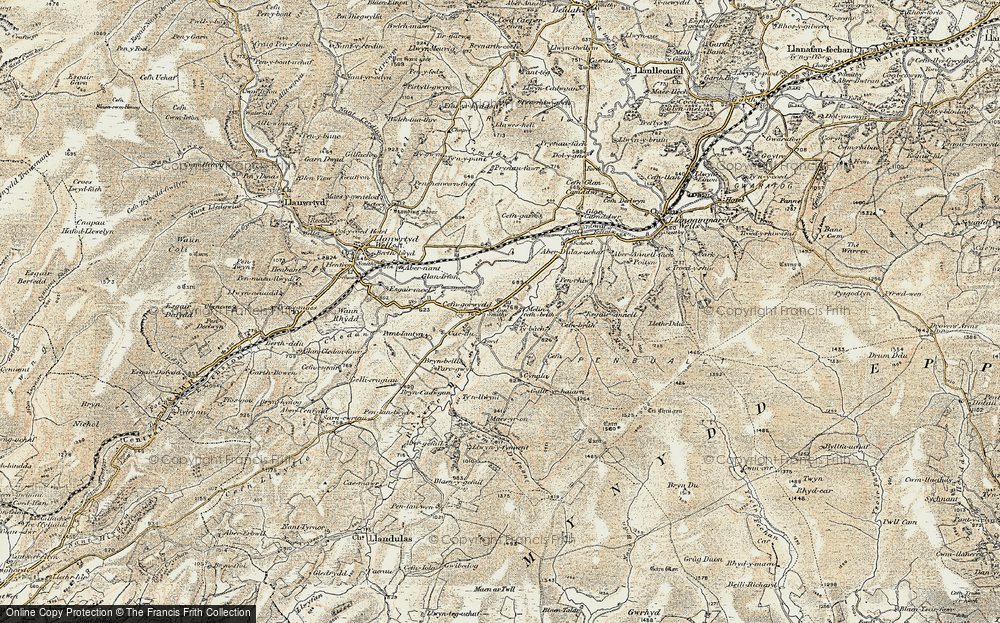 Old Map of Cefn-gorwydd, 1900-1902 in 1900-1902