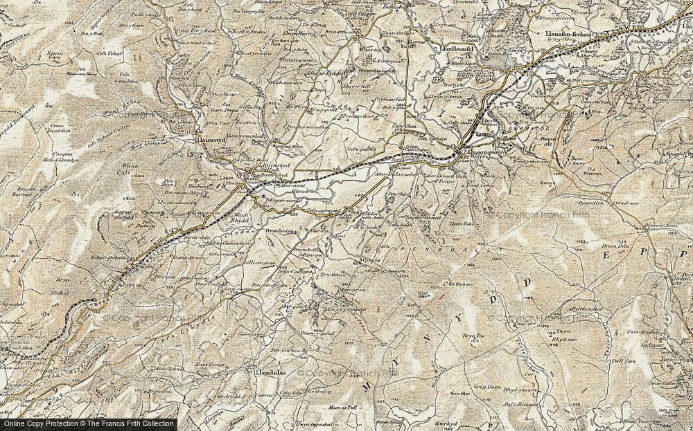 Cefn-gorwydd, 1900-1902