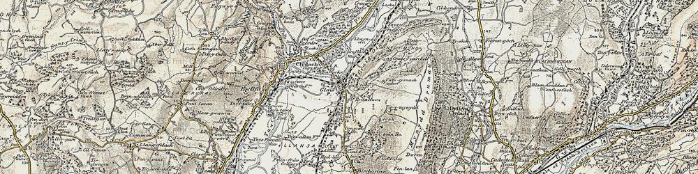 Old map of Cefn-y-Garth in 1900-1901