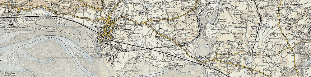 Old map of Tir Morfa in 1900-1901
