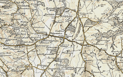 Old map of Windicott in 1902
