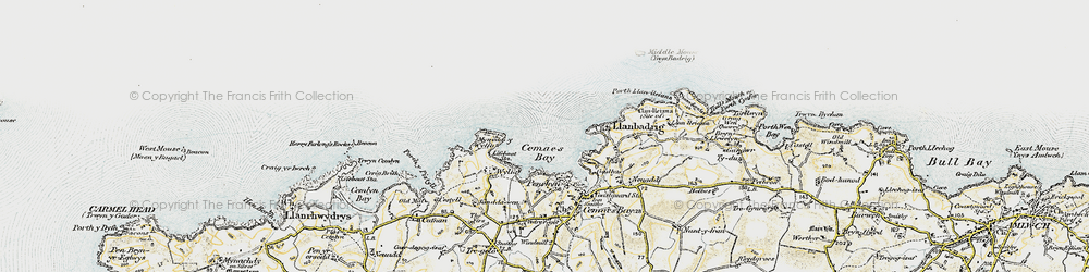 Old map of Wylfa Head in 1903-1910