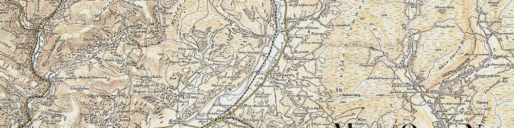 Old map of Cemmaes in 1902-1903