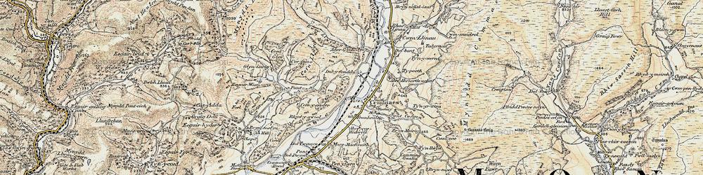 Old map of Aberhiriaeth in 1902-1903