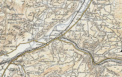 Old map of Cemmaes Road in 1902-1903
