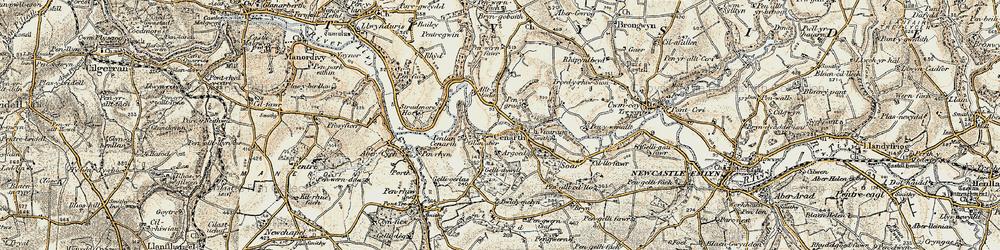 Old map of Alltybwla in 1901