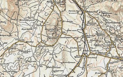 Old map of Cae Gors in 1903