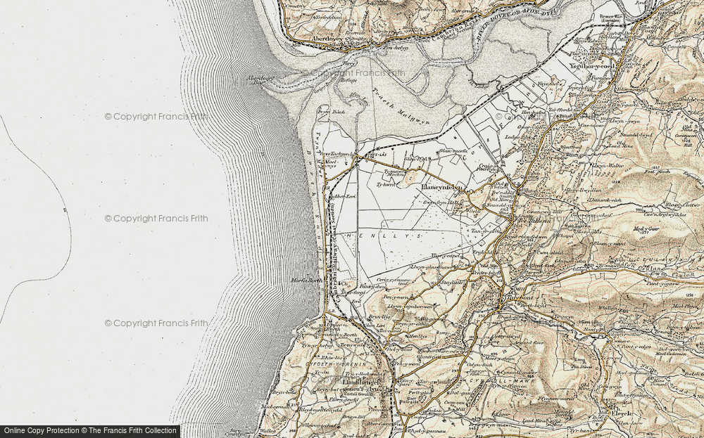 Old Map of Historic Map covering Afon Leri in 1902-1903