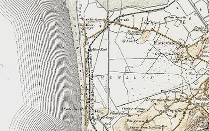Old map of Afon Leri in 1902-1903