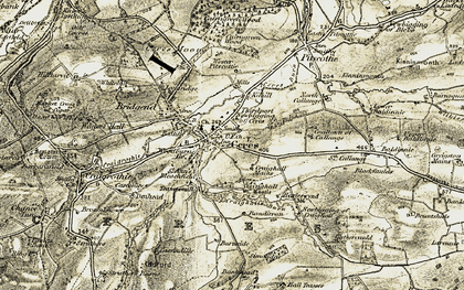 Old map of Ceres in 1906-1908