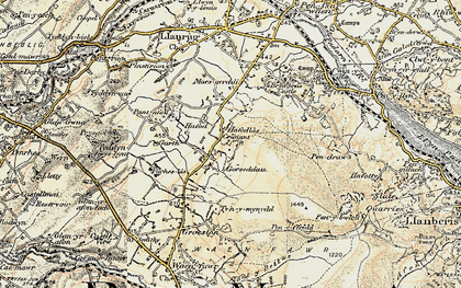 Old map of Y Garth in 1903-1910