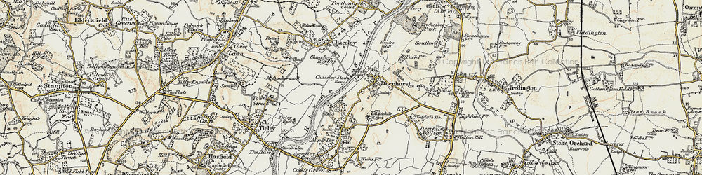 Old map of Abbot's Court in 1899-1900