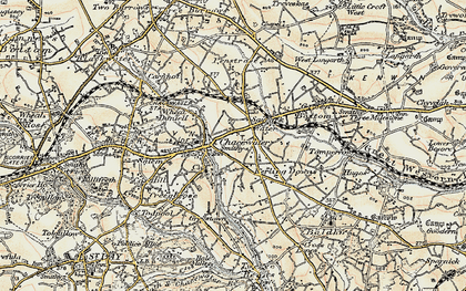 Old map of Chacewater in 1900