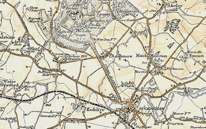 Old map of Chackmore in 1898-1901