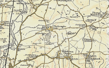 Old map of Chacombe in 1898-1901