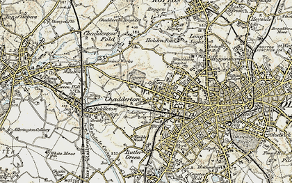 Old map of Chadderton in 1903