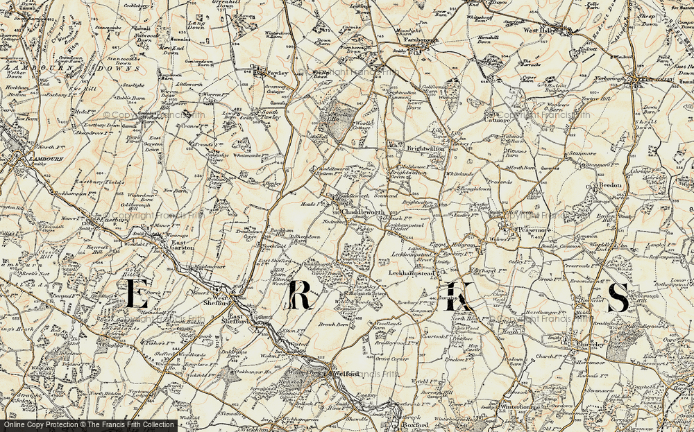 Old Map of Chaddleworth, 1897-1900 in 1897-1900