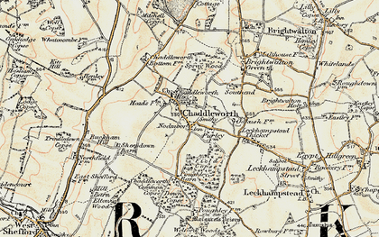 Old map of Chaddleworth in 1897-1900