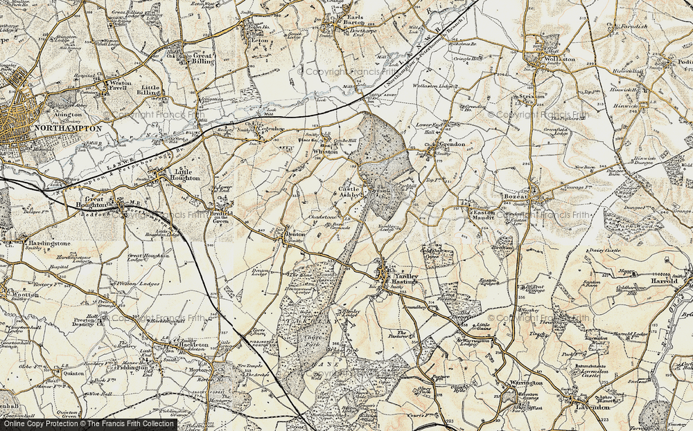 Old Map of Historic Map covering Avenue Lodges in 1898-1901