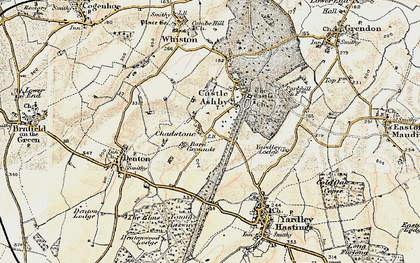 Old map of Avenue Lodges in 1898-1901