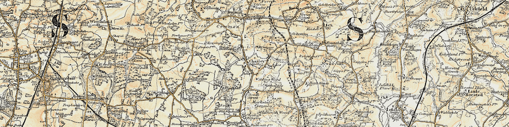 Old map of Ades in 1898
