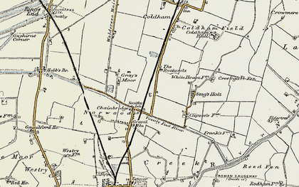 Old map of Chainbridge in 1901-1902