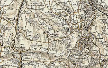 Old map of Alderstead Heath in 1897-1902