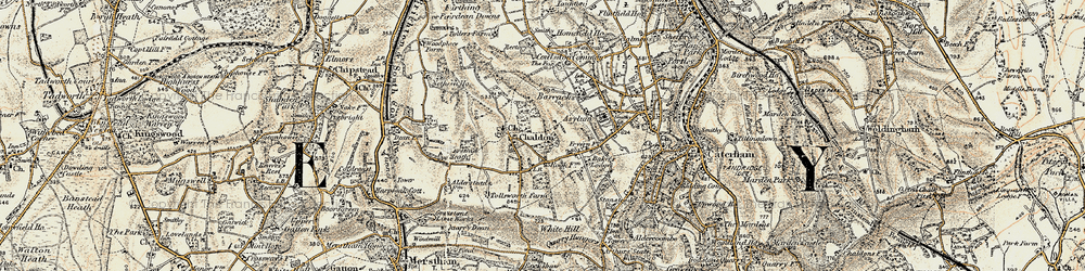 Old map of Tollsworth Manor in 1897-1902