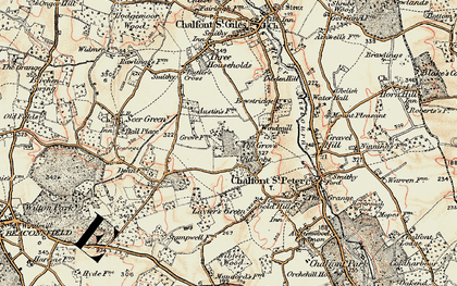 Old map of Chalfont Grove in 1897-1898