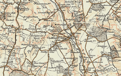 Old map of Chalfont St Giles in 1897-1898