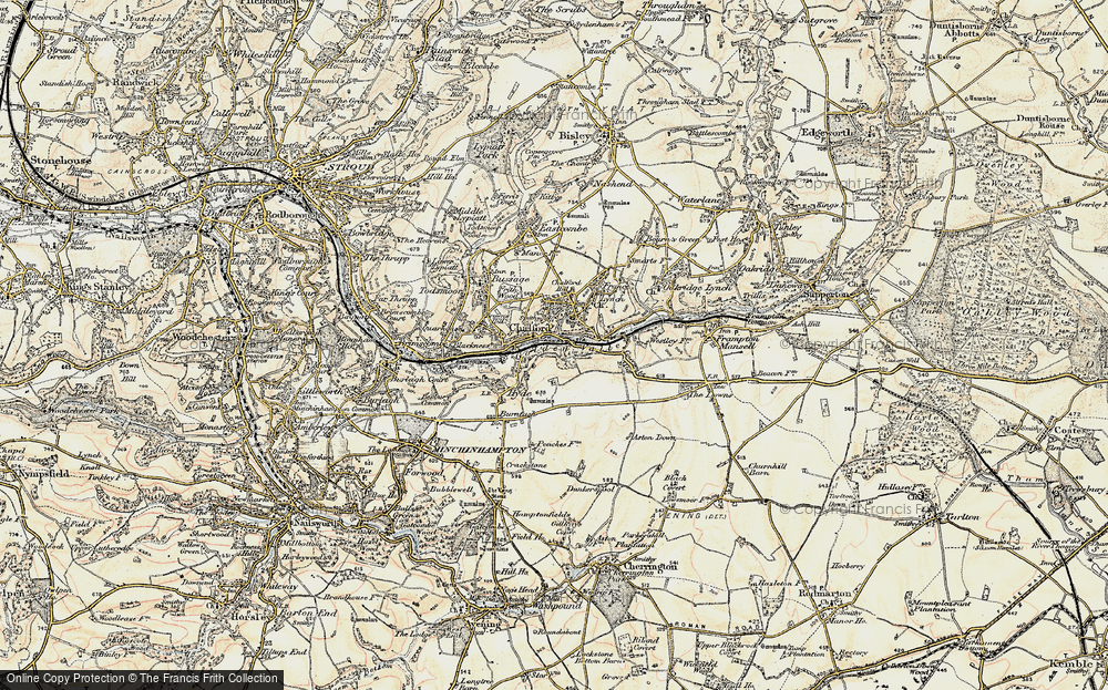 Old Map of Chalford, 1898-1899 in 1898-1899