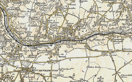 Old map of Chalford in 1898-1899