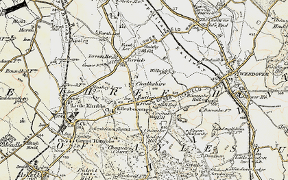 Old map of Chalkshire in 1898