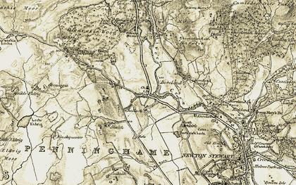 Old map of Castle Stewart in 1905