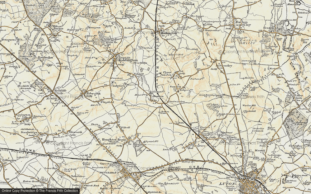 Old Map of Chalton, 1898-1899 in 1898-1899