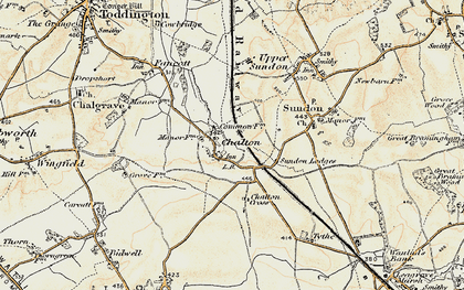 Old map of Chalton in 1898-1899