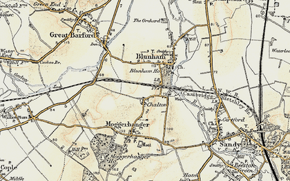 Old map of Chalton in 1898-1901